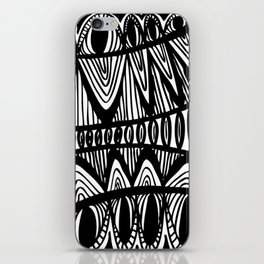 Original Creative black and white pattern illustration iPhone Skin