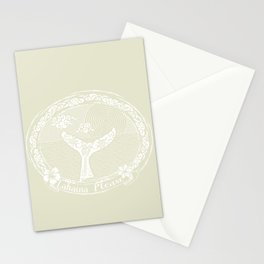 Vintage Lahaina Please White Whales Tail Stationery Cards