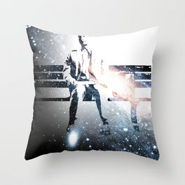 FORREST ON A BENCH & COSMOS Throw Pillow