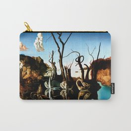 Salvador Dali Swans Reflecting Elephants 1937 Artwork for Wall Art, Prints, Posters, Tshirts, Men, Women, Kids Carry-All Pouch