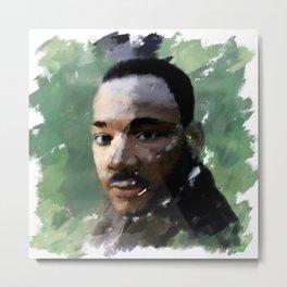 Martin Luther King Digital Painting Metal Print
