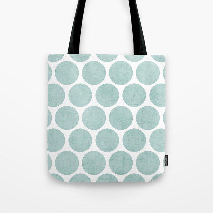 robins egg blue polka dots Tote Bag