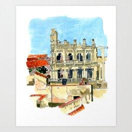 Hotel Shell in Habana Vieja, Cuba Art Print