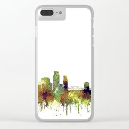 Corpus Christie, Texas Skyline SG - Safari Buff Clear iPhone Case
