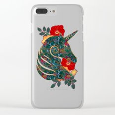 Unicorn Tapestry Clear iPhone Case