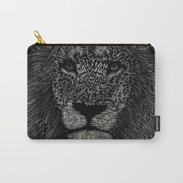 Lion in typography style Carry-All Pouch