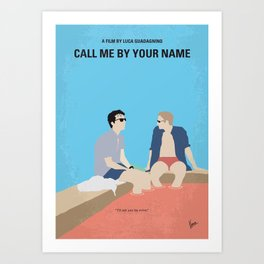 No1124 My Call Me by Your Name minimal movie poster Art Print