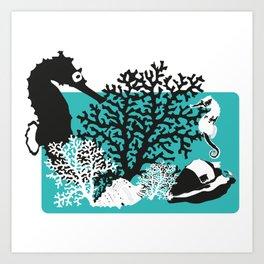 Rencontre et coquillages Art Print