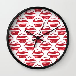 Red cupcakes Wall Clock