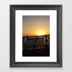 Sunset from Brighton Pier Framed Art Print