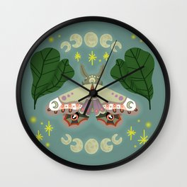 Patterned Moth Wall Clock