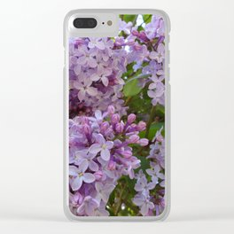 Lilac ~ Periwinkle Clear iPhone Case