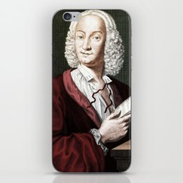 Antonio Vivaldi (1678-1741) by Morellon de la Cave in 1725 iPhone Skin