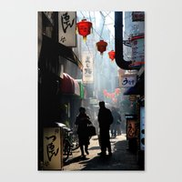 kobe Canvas Prints featuring An Afternoon in Kobe, Japan by Jason Halayko