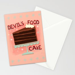 Devil's Food Cake An All American Classic Dessert Stationery Cards