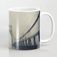 marc johns Mugs featuring St. Johns Bridge by Leah Flores