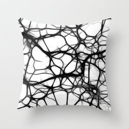 Black neurons Throw Pillow