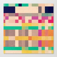 quilt Canvas Prints featuring quilt by spinL
