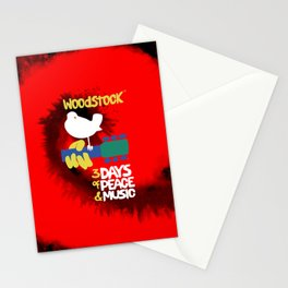 Woodstock 1969 (tie dye background) Stationery Cards