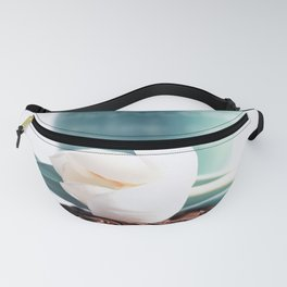Coffee Time and spring flowers Fanny Pack