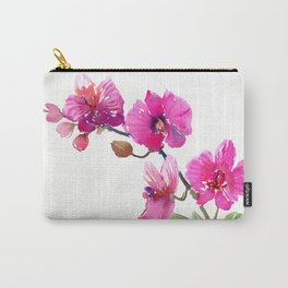 Pink Orchids, pink room floral orchid design Carry-All Pouch