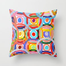 Ornamental Polka Daubs Throw Pillow