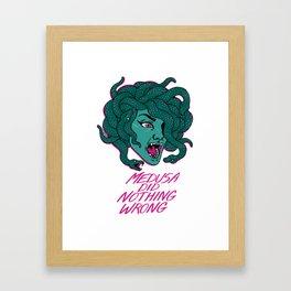 Medusa Did Nothing Wrong Framed Art Print