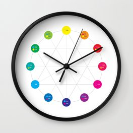 Simple Color Wheel Wall Clock