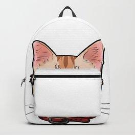 Singapura cat face Cats Kitty funny Comic Cartoon Backpack