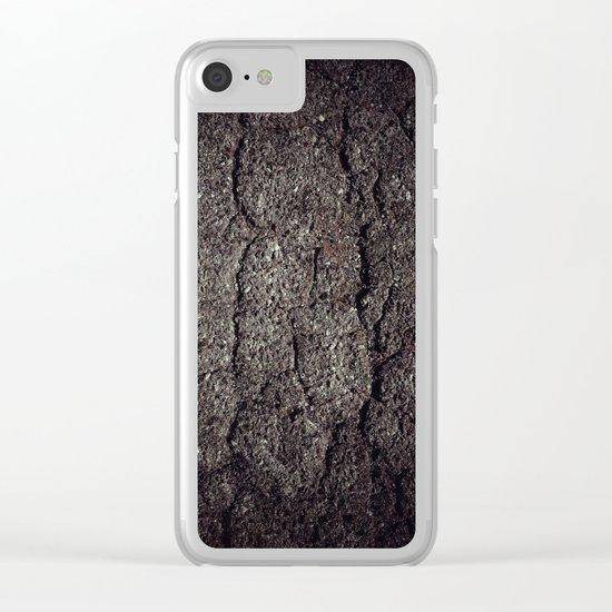 Cracked asphalt road Clear iPhone Case