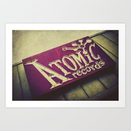 Atomic Records Vintage Sign Art Print