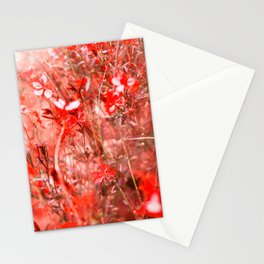 Bright Coral Floral Stationery Cards