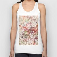 pittsburgh Tank Tops featuring Pittsburgh by MapMapMaps.Watercolors