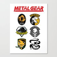 metal gear Canvas Prints featuring Metal Gear by Khaled