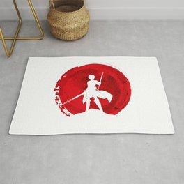 Red Eren yeager Rug