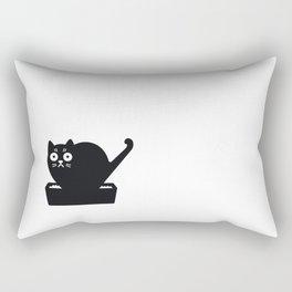 Surprised cat! Rectangular Pillow