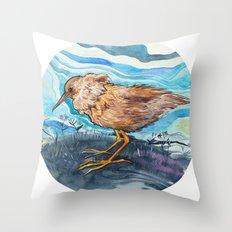 Bird in a circle Throw Pillow