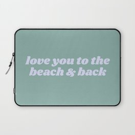 beach & back Laptop Sleeve