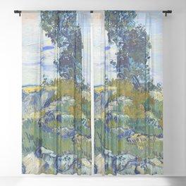Vincent van Gogh The Rocks Sheer Curtain