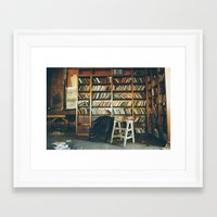 library Framed Art Prints featuring Library by dekko