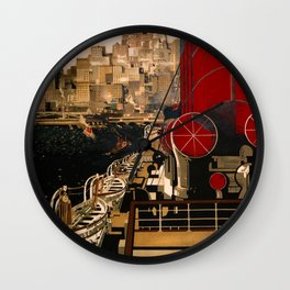 Cunard USA and Canada Travel Poster Wall Clock