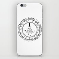 bill cipher iPhone & iPod Skins featuring Bill Cipher - Light by Flora