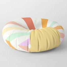 Boho Sun Colorful Floor Pillow