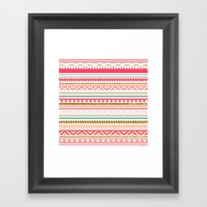 Aztec love Framed Art Print