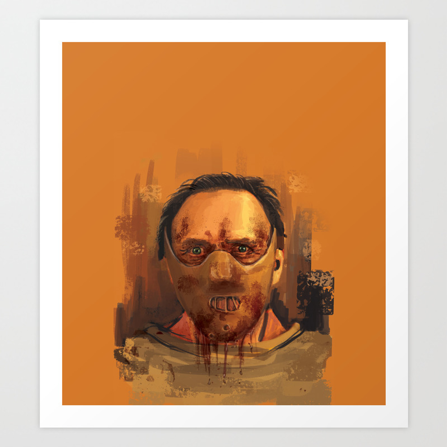 Hannibal The Silence Of The Lambs Art Print By Melihozenc Society6