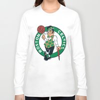 nba Long Sleeve T-shirts featuring NBA - Celtics by Katieb1013