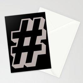 Big Hashtag Stationery Cards