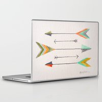 arrows Laptop & iPad Skins featuring Arrows by Hayley Lang