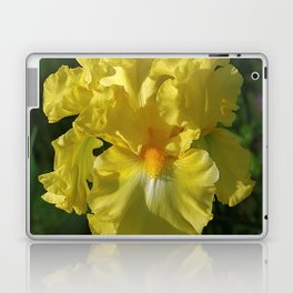 Golden Iris flower - 'Power of One' Laptop & iPad Skin