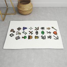 Old School Runescape Skills Rug
